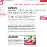 Electrocomponents careers website